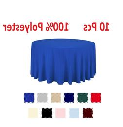 10 pcs Polyester Tablecloth Bulk for Party Choose White Ivor
