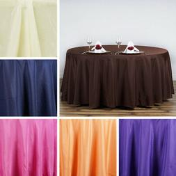 10 Pack 120 Inch ROUND TABLECLOTHS Wedding Decorations Party