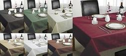 100% POLYESTER PLAIN CHECKED CHEQUERS TABLE CLOTHS GREAT FOR