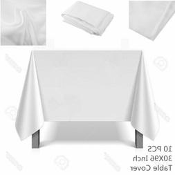 """10x Dining Tablecloths 30 X 96"""" Rectangular Table Cover For"""