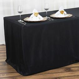 12 pcs FITTED 6 feet POLYESTER TABLECOVERS Party Tradeshow W