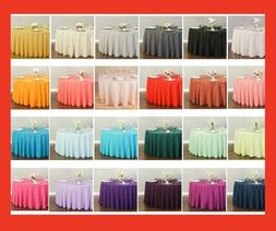 LinenTablecloth 120 in.Round Polyester Tablecloth 33 Colors!