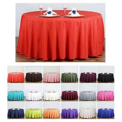 """120"""" Round Polyester Tablecloth For Wedding Party Banquet Ev"""