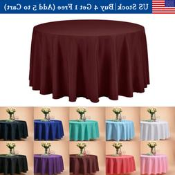 """120"""" Inch Round Tablecloths Table Cover for Wedding Parties"""