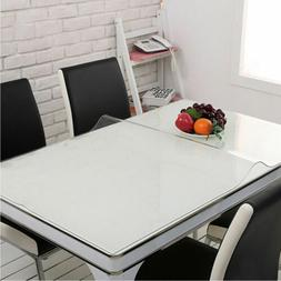 1mm PVC Clear Tablecloth Waterproof Table Protector Kitchen