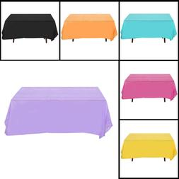 1pc Tablecloth Pure Color Disposable Waterproof Rectangle Ta
