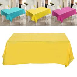 1pc Tablecloth Rectangle Pure Color Disposable Waterproof Ta