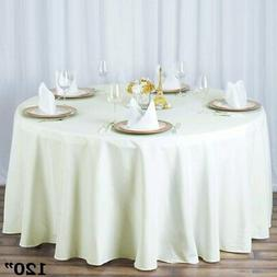 20 Pack 120 Inch ROUND TABLECLOTHS Wedding Decorations Party