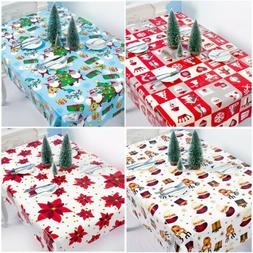 Merry Christmas Disposable Tablecloth Elk Bell Table Ornamen
