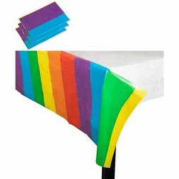 3 Rainbow Plastic Table Cover For Party Birthday, LGBT Pride