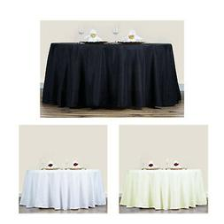 5pcs 70 round polyester tablecloth for wedding