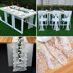 5PCS Lace White Table Cloths Tablecloths for Rectangle Table