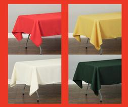 60 x 102 in rectangular poly tablecloths