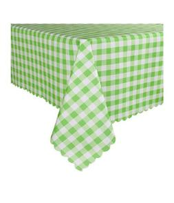 60 x 84 Inch Checkered Rectangle Table Cloth - Stain Resista
