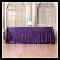 60×120'' Rectangle Sequin Tablecloth For Party Cake Dessert
