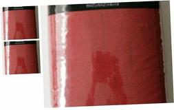 60x84 Rectangle Red Vinyl Peva Tablecloth Flannel Back