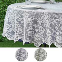 """70"""" Floral LACE Round TABLECLOTH Wedding Party Table Linens"""