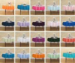 LinenTablecloth 70 in. Round Polyester Tablecloths, 33 Color