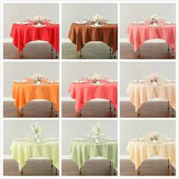 LinenTablecloth 70 in. Square Polyester Tablecloths, 33 Colo