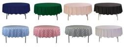 YCC Linens - 70 Inch Round Polyester Tablecloths for wedding
