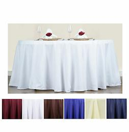 """70"""" Round Polyester Tablecloth For Wedding Party Banquet Eve"""