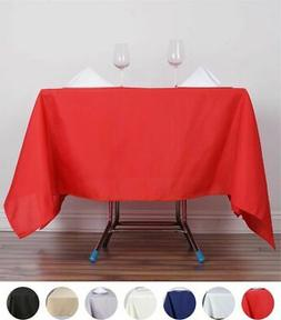 """70"""" Square Polyester Tablecloths for Wedding Party - Stain W"""