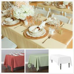 1/10 Pk 70 X120 in. Rectangular Polyester Tablecloth Wedding