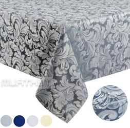 """Tektrum 70""""X70"""" Square Damask Tablecloth-Waterproof/Stain Re"""