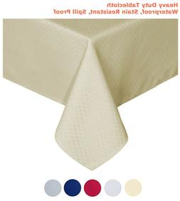 """Tektrum 70""""X70"""" Square Waffle Tablecloth-Waterproof/Stain Re"""