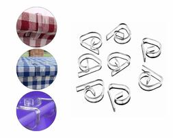 72pc Clear Plastic Table Clip Clamps Party Banquets Supplies