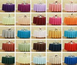LinenTablecloth 90 in. Round Polyester Tablecloths, 33 Color