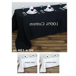 """90""""x156"""" Square Chambury Casa 100% Cotton Tablecloth For Wed"""