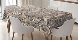 Abstract Design Tablecloth Ambesonne 3 Sizes Rectangular Tab