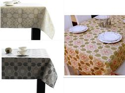 Assorted Sizes / Colors Jacquard fabric Tablecloths Polyeste
