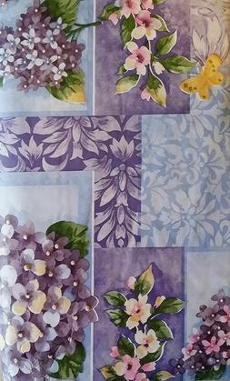 ASSORTED SIZES FLORAL VINYL / FLANNEL TABLECLOTHS MULTI-COLO