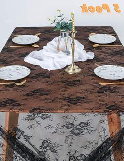 B-COOL Lace Tablecloth 60x120 Wedding Lace Tablecloth 5 Pack