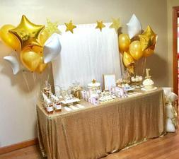 B-Cool Matte Gold Sequin Tablecloth 50X80 Sequin Fabric Tabl