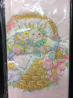 """Baby Girl- Baby Bunny In A Basket 6 Pack Of 54""""x102"""" Ams"""