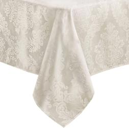 Newbridge Barcelona Luxury Damask Fabric Tablecloth, 100% Po