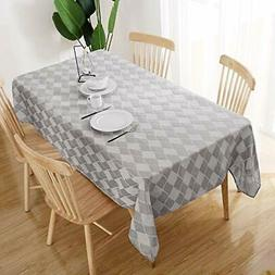 Deconovo Beautiful Jacquard Table Cloth Spillproof and Water