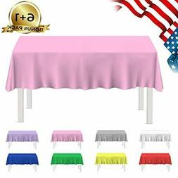 besos home plastic tablecloth 7 pack disposable
