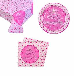Birthbay Party Set Plates + Tablecloth + Napkins for girls