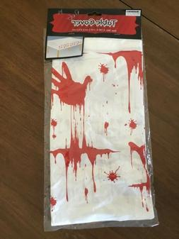 Blood Splatter Zombie Tablecover Tablecloth Movie Halloween