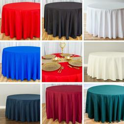 Bulk Sale 120 in. Round Polyester Tablecloths Wedding Events