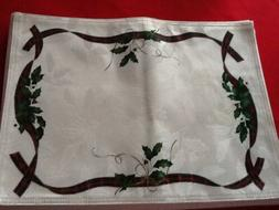 Lenox Christmas Holiday Nouveau Placemats  New
