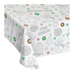 Christmas Paper Activity Tablecloth 3 Count