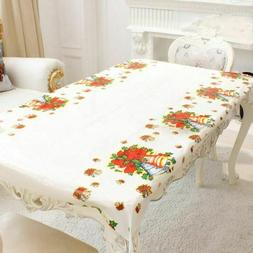 Christmas Tablecloth Rectangular Linen Home Kitchen Dining T