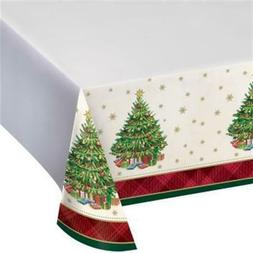 Christmas Tree Traditions Plastic Banquet Tablecloth Christm