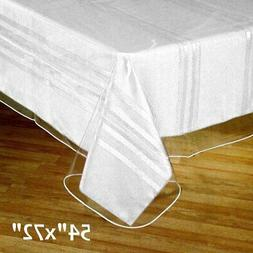 """Clear Plastic Vinyl 54x72"""" TABLECLOTH Protector Table Cover"""