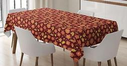 Colorful Garden Tablecloth Ambesonne 3 Sizes Rectangular Tab